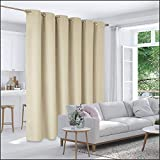 Deconovo Privacy Room Divider Curtain Thermal Insulated Blackout Curtains Screen Partition Room Darkening Panel for Shared Bedroom, 10ft Wide x 8ft Tall 1 Panel Beige