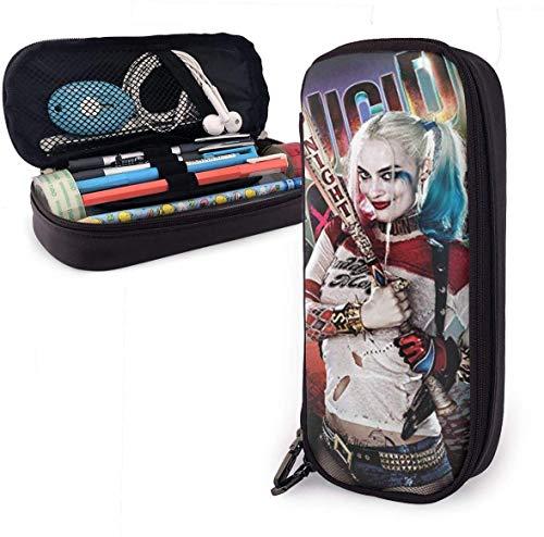 Harley-Quinn Smile Unisex-Federmäppchen für Kinder Stiftschachtel Reißverschluss Schreibwarenbeutel Canvas-Beutel Taschen für Mädchen Jungen