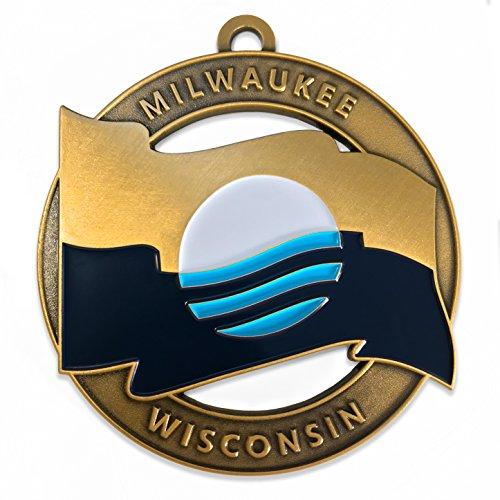 People's Flag of Milwaukee City Flag Ornament