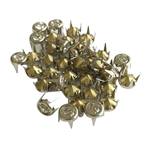 Gazechimp 50 Stück 6 bis 10mm Nieten Strass Steine Crystal Nieten Ziernieten Schraubnieten zum Kleidung Verzieren - Silber, 10 mm