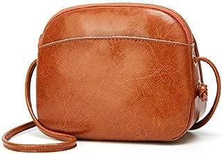 New Women's Shoulder Bag Wild Shell Handbags Simple Mini Summer Shoulder Messenger Bag (Color : Brown, Size : S)