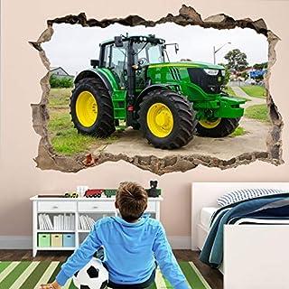 Tractor Moderno Autocolante Decorativo Pegatina Autoadesivo de Pared Wall Decal M275 (Pequeño: 50 cm x 30 cm)