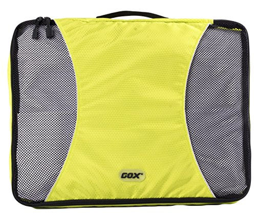Organizer Valigia, GOX Premium Nylon 420D Portatile Cubi Deposito Imballaggio / Cubi Organizzatori da Viaggio / Travel Bagagli Valigia Accessori / Organizzatori di Viaggi con Gancio (Large, Verde)