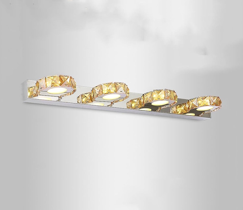 &Spiegelleuchte LED-Kristall-Spiegel-Frontlicht-Toiletten-Lampen-Toiletten-wasserdichte Wand-Lampen-Verfassungs-Lampe (Farbe   1-62cm)