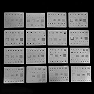16pcs IC Chip BGA Reballing Stencil Kits Set Solder Template for iPhone