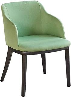 Sillas de comedor de cocina, sillas de comedor de lino, hierro forjado para uso en el hogar, respaldo de leche y té, maquillaje, decoración de uñas, silla de ordenador, cocina (color: verde)