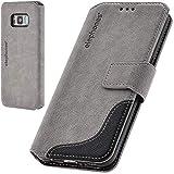 elephones® Handyhülle für Samsung Galaxy S8 Hülle - Kompatibel mit Galaxy S8 Schutzhülle Handy-Tasche Flip Hülle Cover Grau