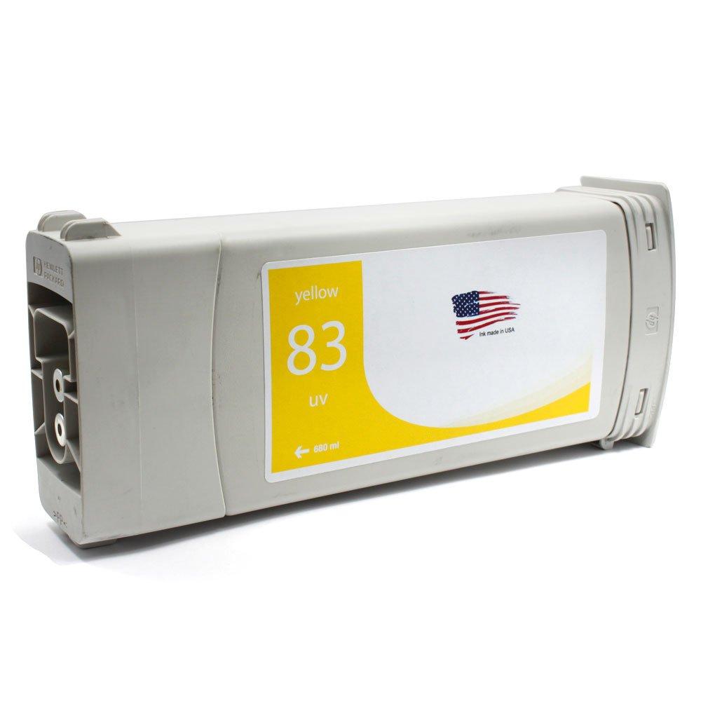 DS Reman cartuchos de tinta de repuesto para HP C4943 A (HP 83), color amarillo: Amazon.es: Oficina y papelería