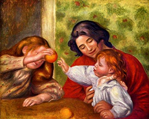Het Museum Outlet - Gabrielle Jean en een meisje van Renoir, Stretched Canvas Gallery verpakt. 58x78