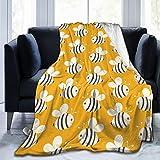 Bumblebee Luxury Flannel Fleece Blanket Throw Lightweight Blanket Warm Bed Blanket Ultra-Soft Cozy Microfiber Blanket Polar Fleece Blanket Travel Blanket 50'x40'