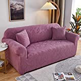 Fsogasilttlv Funda de sofá elástica 3 plazas y 4 plazas 2 uds, Funda de sofá Jacquard Gruesa Color sólido, Funda de sofá de Tela de cojín para sofá para Sala de Estar