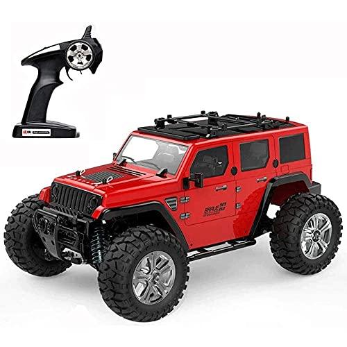 YAMMY 1/14 Escala Escalada Vehículo RC 4WD Coche RC 2.4G Inalámbrico Off-Road Control Remoto Coche Resistente a los Golpes RC Buggy Bigfoot Mo (Coche RC Inteligente)