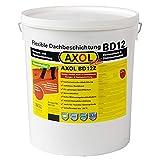(€ 11,58/kg) 1K Flüssigkunststoff Dachsanierung, Dachfarbe Dachbeschichtung zum Abdichten von Eternit-Platten, Faserzement. 12kg Gebinde in ziegelrot