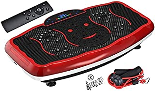 Max Strength-Fat Burning Vibration Plate Fitness Massager Body Shaper Weight Loss Heavey Duty Crazy Slimming Device With B...