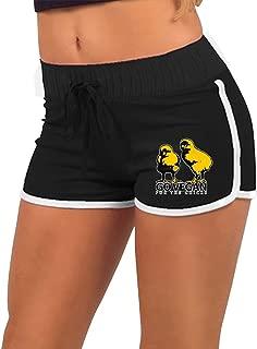 Vegan Chick Go Vegan Women's Torso Silhouette Hot Pants,Summer Season Slim Yoga Minipants