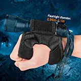 ORCATORCH Diving Flashlight Glove Hands-Free Flashlight Holder Universal Adjustable Wrist Strap Scuba Dive Lights Accessories