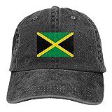 Jamaica - Gorra de béisbol ajustable, color negro