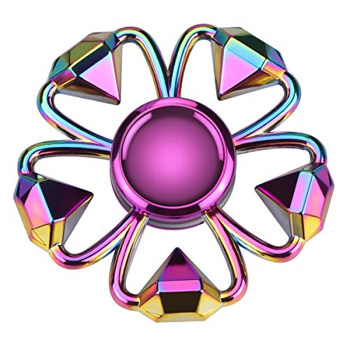 ATESSON Fidget Spinner Toy for Kids Adults, Quiet Hand Spinner Toys Stainless Steel High Speed Bearing Metal Material Stress Relief Boredom Killing Time Toys for Boys Girls