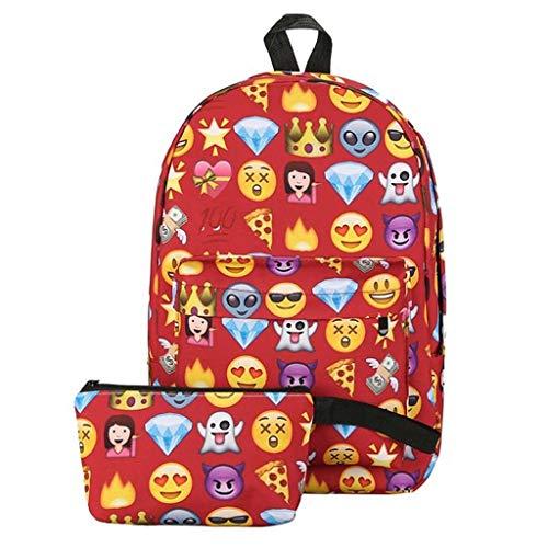 LXESWM Emoji Rugzak Leuke Kids School Bookbags Voor Meisjes Jongens, Smiley Print Rugzak Waterdicht Mode Rugzak Reistas