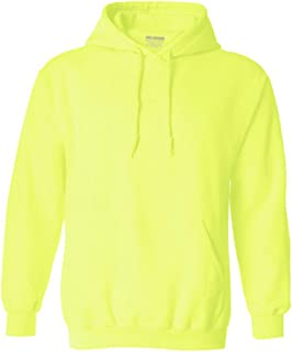 Safety Green and Orange Hoodies - Hooded Sweatshirts in Sizes S-5XL