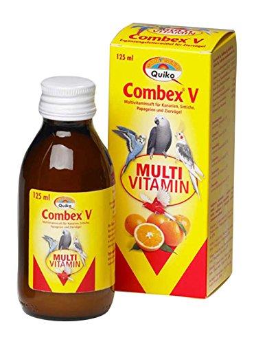 Vitacombex V - multivitamine sap voor kanaria, zittijten, papegaaien en siervogels/optimale vitamine verzorging, 6 x 125 ml