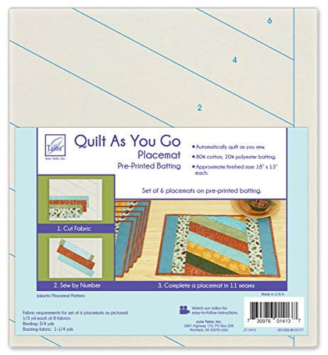 June Tailor Home Décor Series Quilt As You Go Placemats (6) (C) -Jakarta