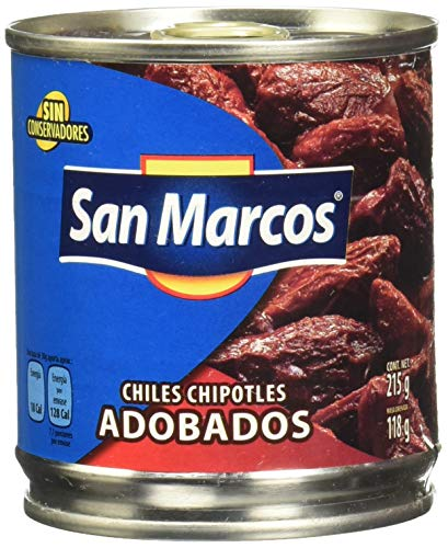 Chiles Chipotle Adobados SAN MARCOS -- Chipotle-Chili in Adobo-Soße, Dose 215g - Abtropfgewixht 118g