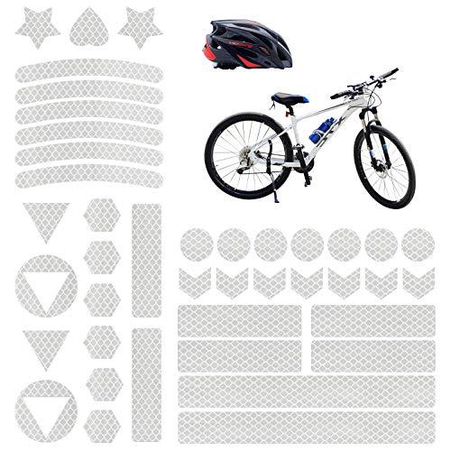 Vegena Reflektoren Fahrrad, 41 Stück Fahrrad Aufkleber Reflektor Sticker, Reflektierende Aufkleber Kleidung, Fahrradaufkleber Reflektorband für Helm Kinderwagen Kinderroller Fahrräder Skateboard Auto