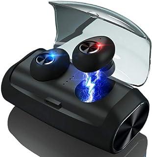 Manba Audifonos bluetooth inalambricos, Auriculares inalámbricos con Bluetooth 5.0 True con 80H Playtime, Deep Bass, CVC8.0 Auriculares Bluetooth con cancelación de ruido con estuche de carga 2600mAh IPX 7, Micrófono incorporado para correr, Entrenamiento