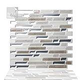 Tic Tac Tiles cáscara de anti-moho y baldosas de la pared del palillo en Como Pebble 10 1...