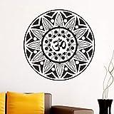 yaonuli Símbolo Redondo Mandala patrón Etiqueta de la Pared Sala de Estar extraíble Autoadhesivo decoración del hogar 58X63cm