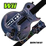Mightyskins Skin Decal Skin Compatible with Guitar Hero 3 III Nintendo Wii Les Paul - Dragon Fantasy