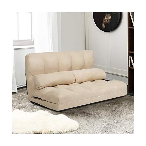 Giantex Adjustable Floor Sofa, 6-Position Foldable Lazy Sofa Bed with Detachable...