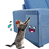 Bligo Pet Furniture Protectors, Cat Scratch Deterrent Pad for Leather Couch, Clear Pet Cat Dog Claw Guards, Anti Scratch Cat Training Tape, Self-Adhesive Pads, 17.7 x 12 Inches, 12 Pack