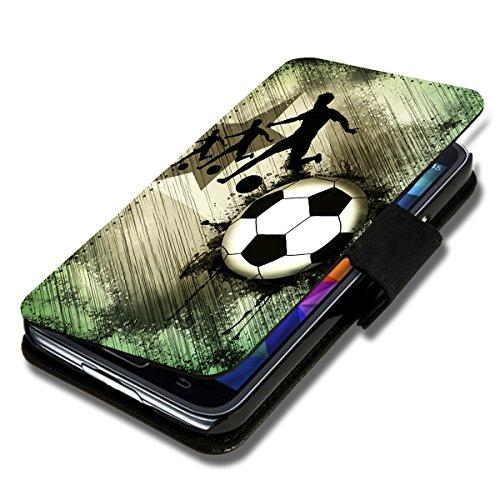 wicostar Book Style Flip Handy Tasche Hülle Schutz Hülle Schale Motiv Etui für LG L Fino - Flip 1A49 Design2