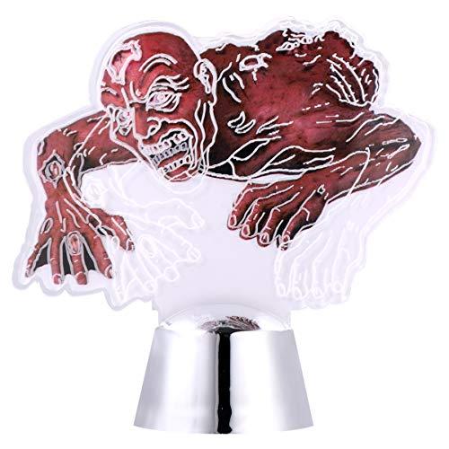 TOYANDONA Lámpara de Luz Led de Noche 3D Zombie Halloween Luces de Decoración de Miedo de Mesa para Dormitorio Habitación Infantil Bar Tienda Cafe