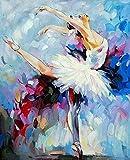 JHGJHK Imagen de Bailarina Pintura al óleo Decoración Personaje de habitación Chica Dormitorio Decoración Mural (Imagen 10)