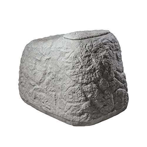 GreenLife Dekor-Regenspeicher Findling, granitgrau, 120 x 80 x 85 cm, 500 L, G0000416