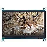 Pantalla táctil para Raspberry Pi, Pantalla Raspberry Pi 1024 * 600 Pantalla LCD de 7 Pulgadas Monitor de Pantalla táctil HDMI con Salida de Audio