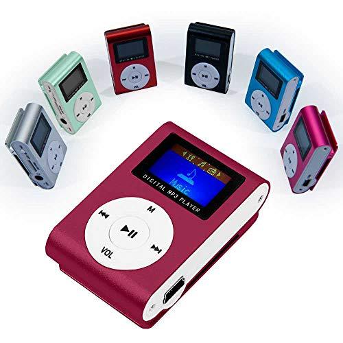 OcioDual Mini Reproductor MP3 Player Clip LCD Aluminio hasta 32Gb Micro SD Radio FM Vino