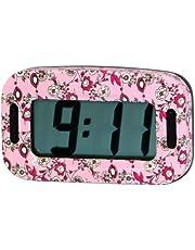 Carpoint 1023422 Black Flower - Reloj, color rosa