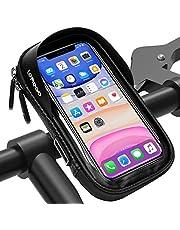 Fiets Telefoonhouder Waterdichte, LEMEGO Fietszak Fietshouder Stuur Motorfiets Scooter Fietstas 360 Graden Rotatie Anti Vibratie Touchscreen Cover voor 6,5 inch Mobiele Telefoons