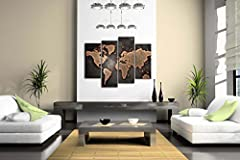 General World Map Black Background Wall Art Painting Pictures Print On Canvas Art The Picture For Home Modern Decoration #4
