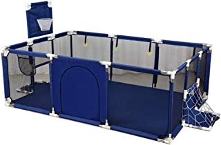 Large Babies Playpen for 0-4 Ages Kids Safety Play Center Yard Indoor Anti-Fall Baby Playpen Durable Strong Guardrail -Two Colors Red Blue  -190 129 66cm