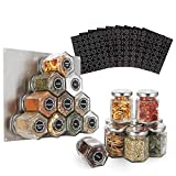 PACKAGE CONTAINS: 16 glass hexagon spice jars + 394 labels + 1 chalk mark pen + 1 stainless plate, enough to DIY your kitchen EXPLOIT IGNORED BUT VALUABLE SPACE: Magnetic jars organize your kitchen, and hexagonal shape turns your spices into a work o...