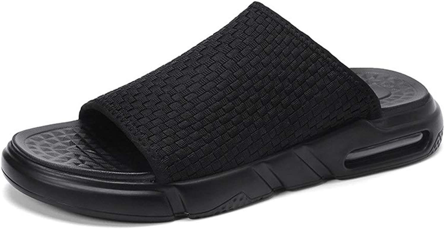 Ino Leisure Sandals for Men Open Toe Slippers Knit Slides Breathable Beach shoes Jackanapes Wear Immune