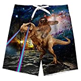 Boys Swim Trunks Beach Shorts Funny Cool Board Shorts Sloth Rides...