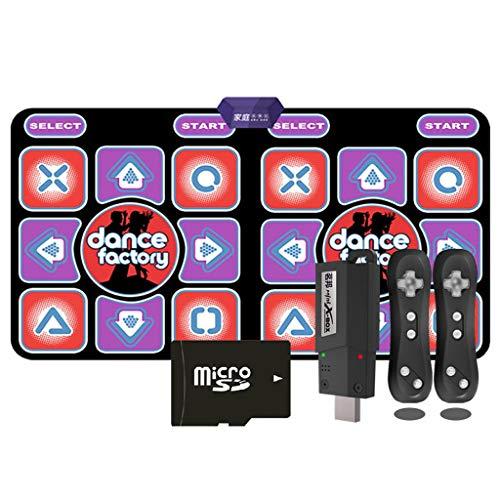YYF Bonne Isolation Acoustique Danse Couverture TV dédiée à Double Maison Machine de Danse sans Fil Machine exécutant Jeu somatosensoriel Tapis de Yoga Couverture Doux (Color : Purple)