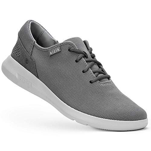 Kizik The Madrid Eco-Knit Slip-On Sneakers, Casual Trendy Shoes for Women and Men Smoke Grey