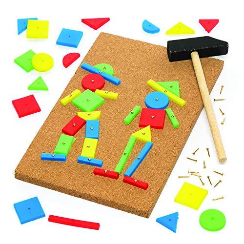 Baker Ross Jeu de marteau et clous (L'unité) - Loisirs créatifs pour enfants